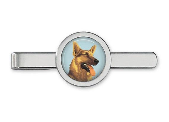 K9 TieBar German Shepherd Tie Clip T0205 German Shepherd Tie Bar Dog TieClip Lifetime Guarantee