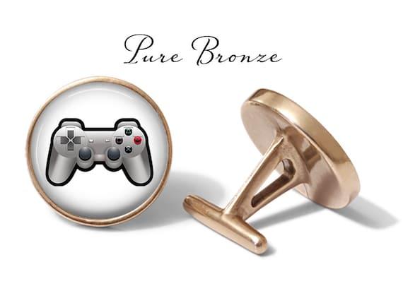 Angled Elegance Retro Gamer Video Game Cufflinks
