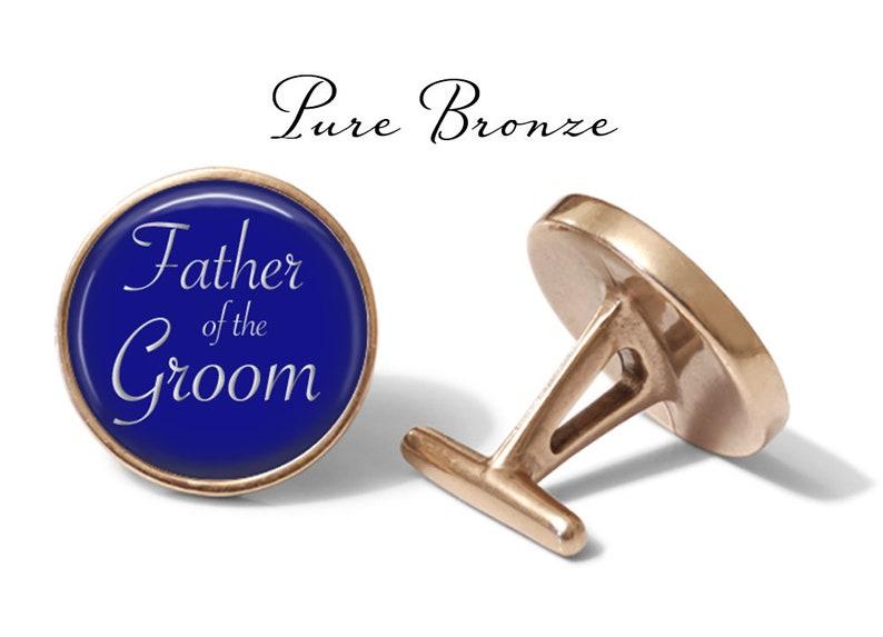Pair Father of the Groom Cufflinks Royal Blue Cufflink S1493 Wedding Cuff Links Lifetime Guarantee