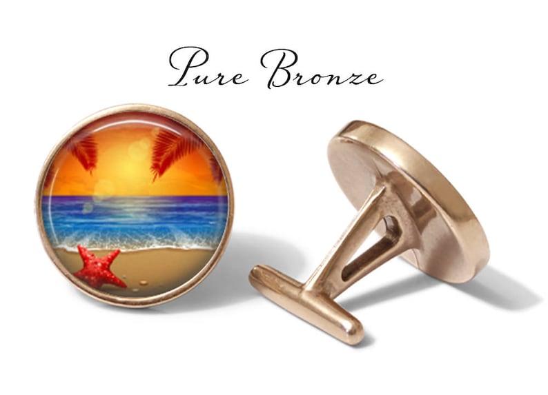 Palm Tree Cuff Links Lifetime Guarantee Pair Sunset Beach Cufflinks S0009 Starfish Cufflink