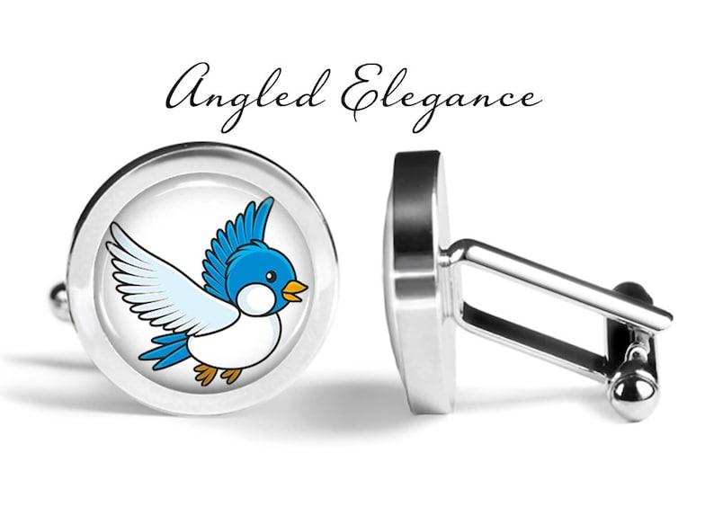 Lifetime Guarantee Bluebird Cufflinks Bluebirds Cuff Links Bird Cufflink S2061