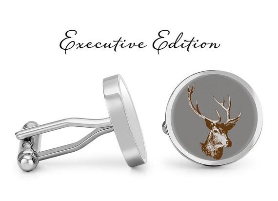 Elk Cufflinks Buck Cuff Links