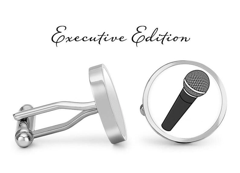 Lifetime Guarantee Microphone Cufflinks Mic Cuff Links Singer Cufflinks Music Cufflinks S0573 Pair Singing Cufflinks