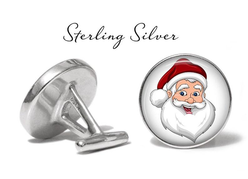 Santa Cufflinks Christmas Cuff Links S1735 Lifetime Guarantee