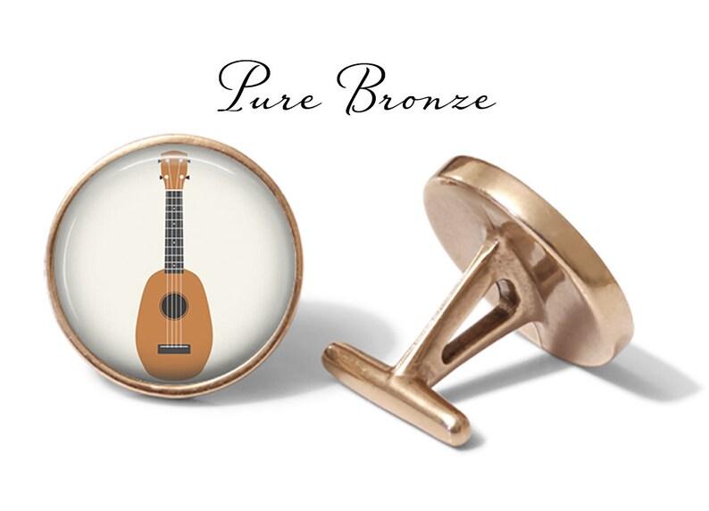 Lifetime Guarantee S1556 Ukulele Cufflinks Ukuleles Cuff Links Music Cufflink Hawaiian Cuff Link