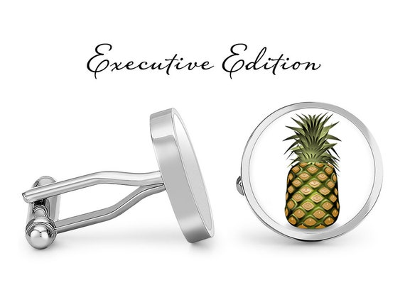 Pineapple Cufflinks Angled Edition