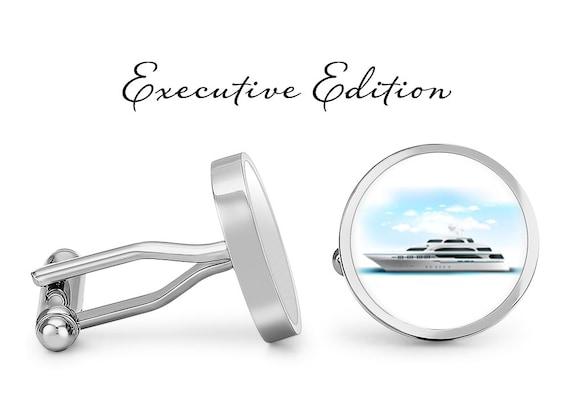 Oakmont Cufflinks Cruise Cufflinks Cruise Ship Cuff Links Angled Edition