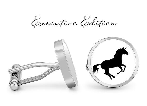square cufflinks unicorn cufflinks tie clip or a matching set round glass cuff links custom personalized cufflinks good luck cufflinks