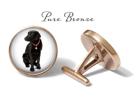 Oakmont Cufflinks Labrador Cufflinks Retriever Dog Cuff Links Solid Bronze