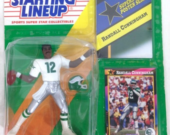66ed5fe4a 1992 RANDALL CUNNINGHAM Philadelphia Eagles Starting Lineup + poster NM    Collector Trading card  A32