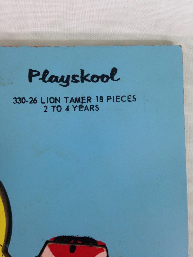 Vintage 1960s Playskool Wood Puzzle Lion Tamer Complete 330-26