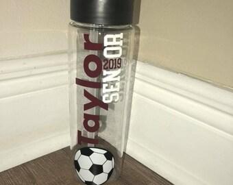 Senior Water Bottle-Sport water bottle, bottle with name, cute water bottle, BPA free, custom bottle, senior gift
