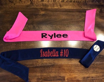 Personalized Tie Back Headbands- Yoga Headband, Sports, Personalized Team Bands, Adjustable, Sweat Absorbent