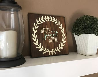 Home Sweet Home Sign / Rustic Wood Sign / Rustic Home Sweet Home Sign / Housewarming Gift / Wood Home Decor
