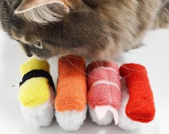 Sushi Catnip Toy, 4 Pieces