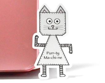 Cat  vinyl sticker, laptop stickers, cat sticker