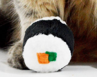 Sushi Roll Catnip Toy, 2 Pieces, Cat toys