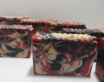 Dragon's Blood Cold Process Soap | Artisan Soap | Handmade Soap | 4.5 Ounce Bar | Luxury Soap | Shells Spa Products