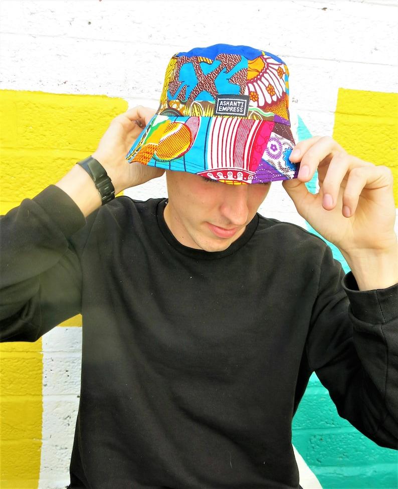 9d1ee1eafd3f2 Colour me Crazy Bucket Hat    90 s Bucket    Summer Hat