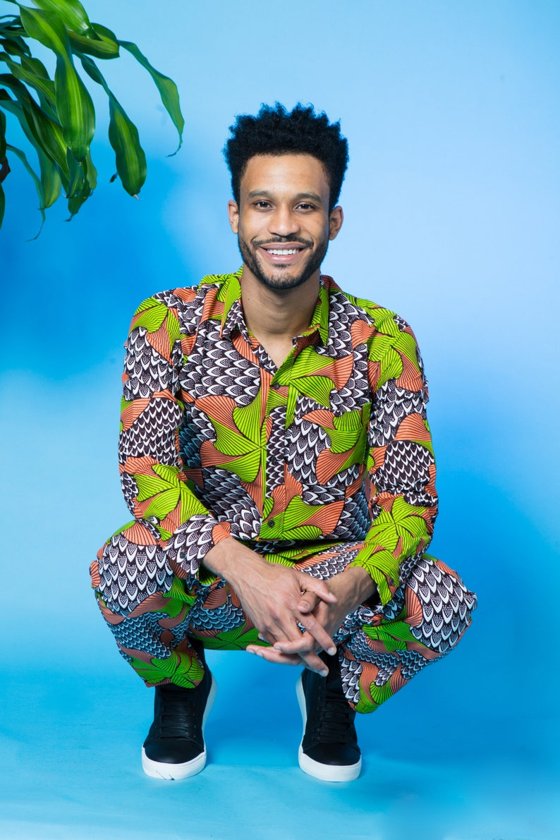 Happy Daze African Print Pants  Unisex trousers  African print trousers  Festival trousers  Colourful trousers  Hippie Pants  Trippy