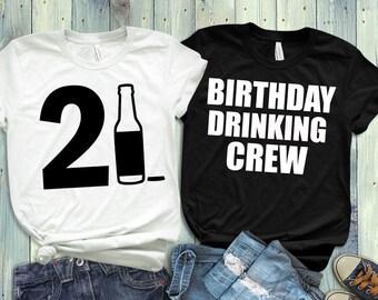 21ST Birthday Drinking Squad Legal Shirt