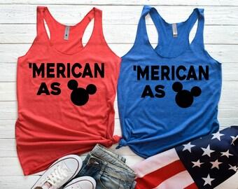 Disney July 4th Tank Top, 4th of July Tank Top, 4th of July Shirt, Fireworks shirt