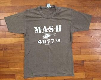 26fcf064 80s MASH 4077 Soft & Thin T-Shirt size MEDIUM ~ 9250