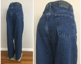 3a3255ed 90s Levi's SilverTab Dark Wash Baggy Jeans size 36 ~ Vintage High Waisted  Denim ~ Loose Fit ~ Hip Hop Streetwear ~ Old School ~ 8661 ~ 36x32