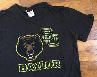 vtg Baylor Bears Tri-Blend T-Shirt size MEDIUM ~ 7437 c81f42654