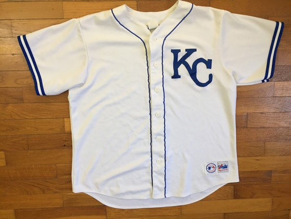 90s Kansas City Royals Embroidered Jersey size LAR