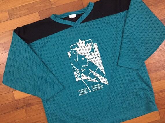 vtg Canadian Hockey Academy Mesh Hockey Jersey siz