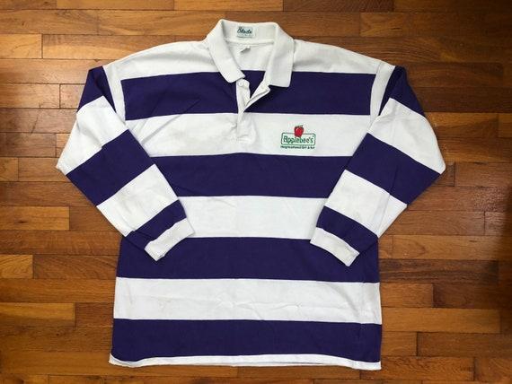 90s Applebee's Employee Rugby Polo Shirt men's 2XL