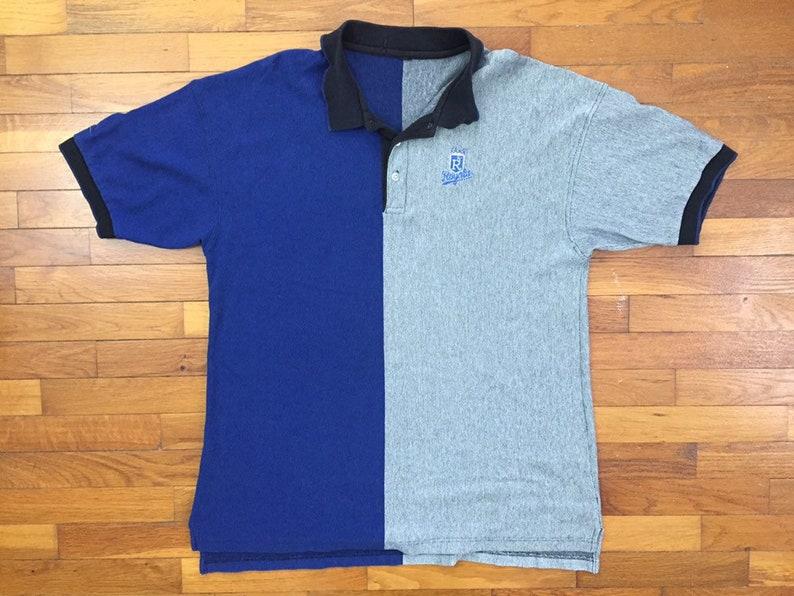 90s Kansas City Royals Color Block Polo Shirt size XL ~ 18859
