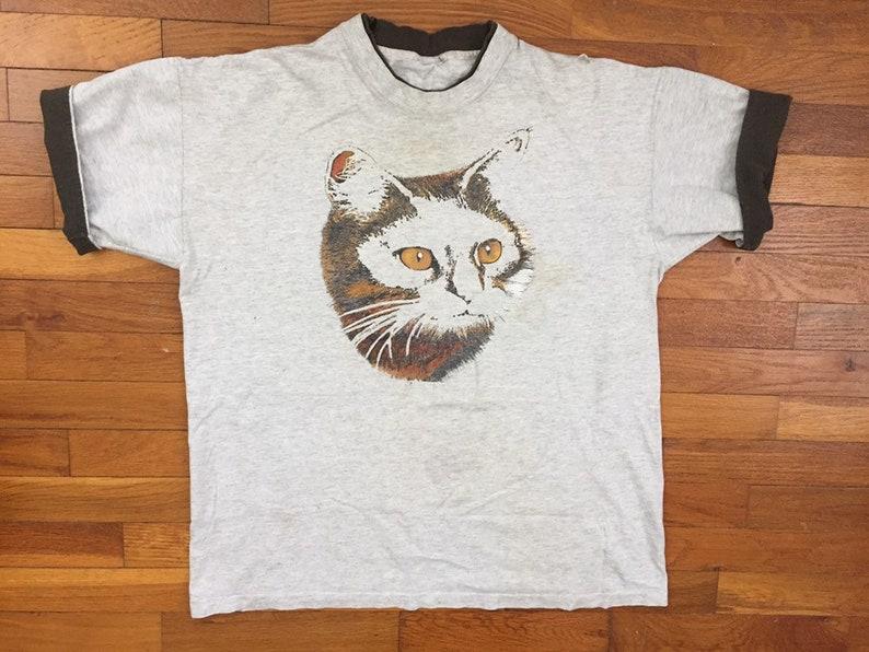 c76c8cc28 90s Weird Cat T-Shirt size XL 18131   Etsy