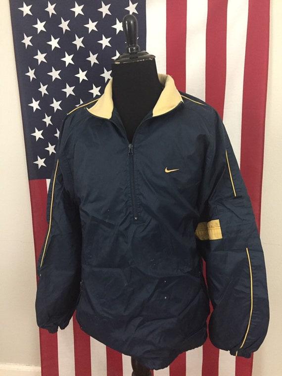 90s Nike Navy Blue & Gold Jacket size XL ~ 1a727