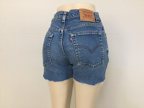 Size 46 Vintage 1990s High Waist Denim Shorts
