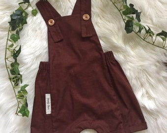 Chocolate Brown Romper