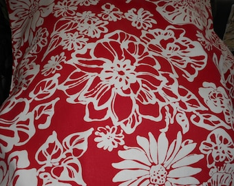 """Red and White Bloom, Decorative Throw Pillow,  19.99 ea., Size 20"""" x 20"""", Qty - 2ea"""