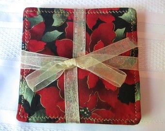 Poinsettia Holiday Coasters