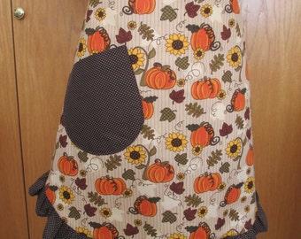 Pumpkins and Sunflower Apron
