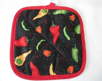 Pot Holder, Hot Peppers