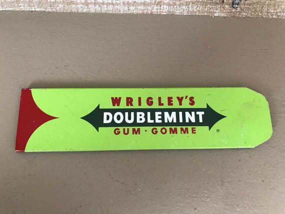 Vintage Wrigley's Doublemint Gum Store Display Rack Front Etsy Enchanting Wrigley's Chewing Gum Display Stand
