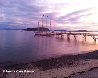 5 x 7 Greeting Card with Envelope - Bar Harbor Sunrise
