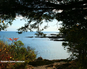 Seen from Marginal Way, Ogunquit, Maine, Ocean, Rocks, Coast, Seashore, Fine Art Photo, Wall Art