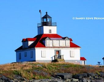 Egg Rock Lighthouse, Winter Harbor, Maine, Bar Harbor, Rocks, Coast, Seashore, Mt. Desert Island, Acadia, Fine Art Photo, Wall Art