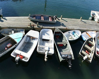 Tender, Too, up to 48 x 19 Panorama, Bar Harbor, Maine, Seascape, Boats, Tenders, Dock, Acadia, Fine Art, Wall Art