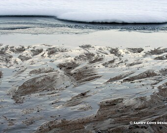 Sandy Cove Delta, Long Lake, Bridgton, Maine, Snow, Ice, Nature, Fine Art, Wall Art