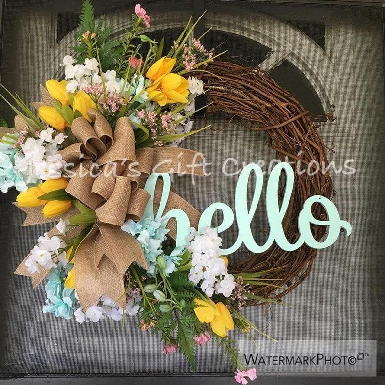 Made to Order Monogram Grapevine WreathFront Door WreathYear RoundSpring WreathBurlap DecorSummer Door HangerFarmhouse WreathBeach