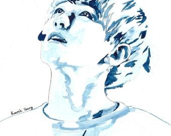 EXO Watercolour Portrait Print: Baekhyun (Byun Baekhyun)