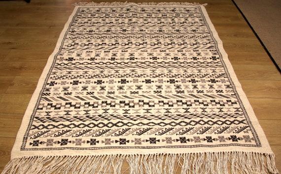 Moroccan Wool Rug Large Soft Rug Floor Mat Custom Made Etsy